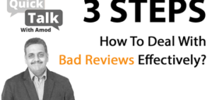 How To Deal With Bad/Negative Reviews Effectively?