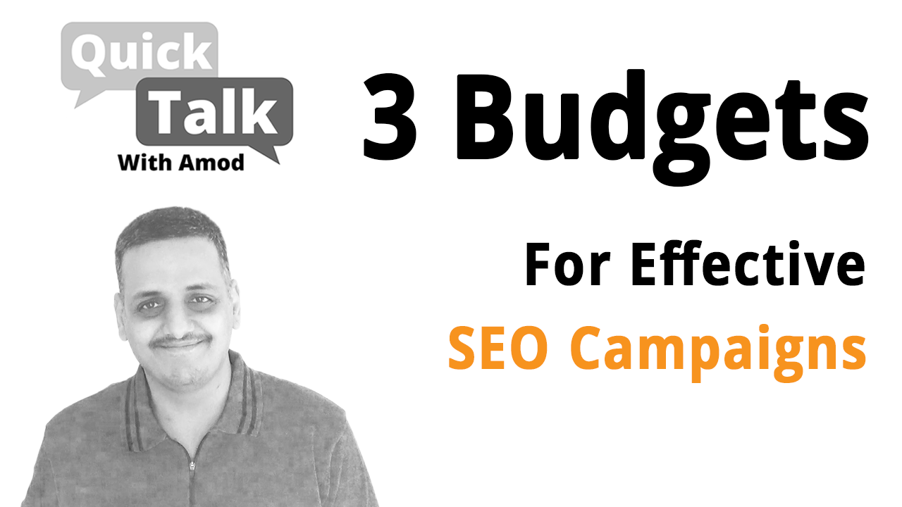3 Budgets Important For SEO Campaign Plan